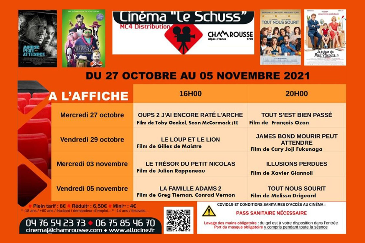 Chamrousse cinema programme