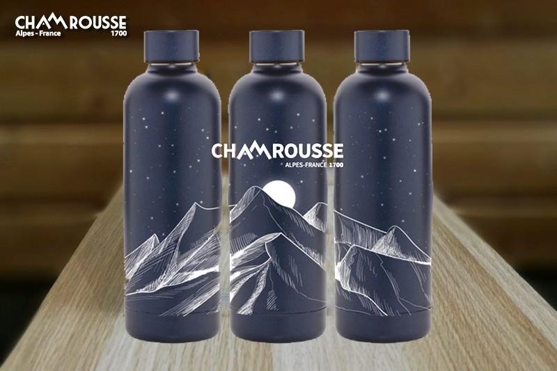 Chamrousse cadeau souvenir boutique gourde thermos bleu nuit station montagne grenoble isère alpes france