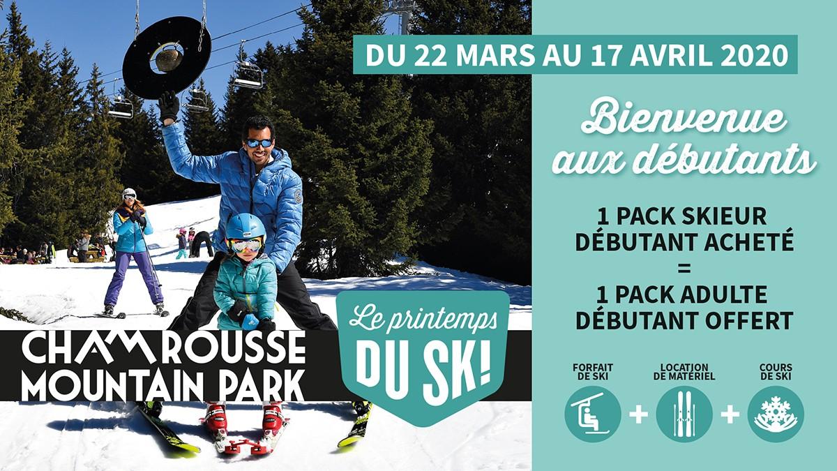 Chamrousse pack débutant printemps du ski station isère alpes france