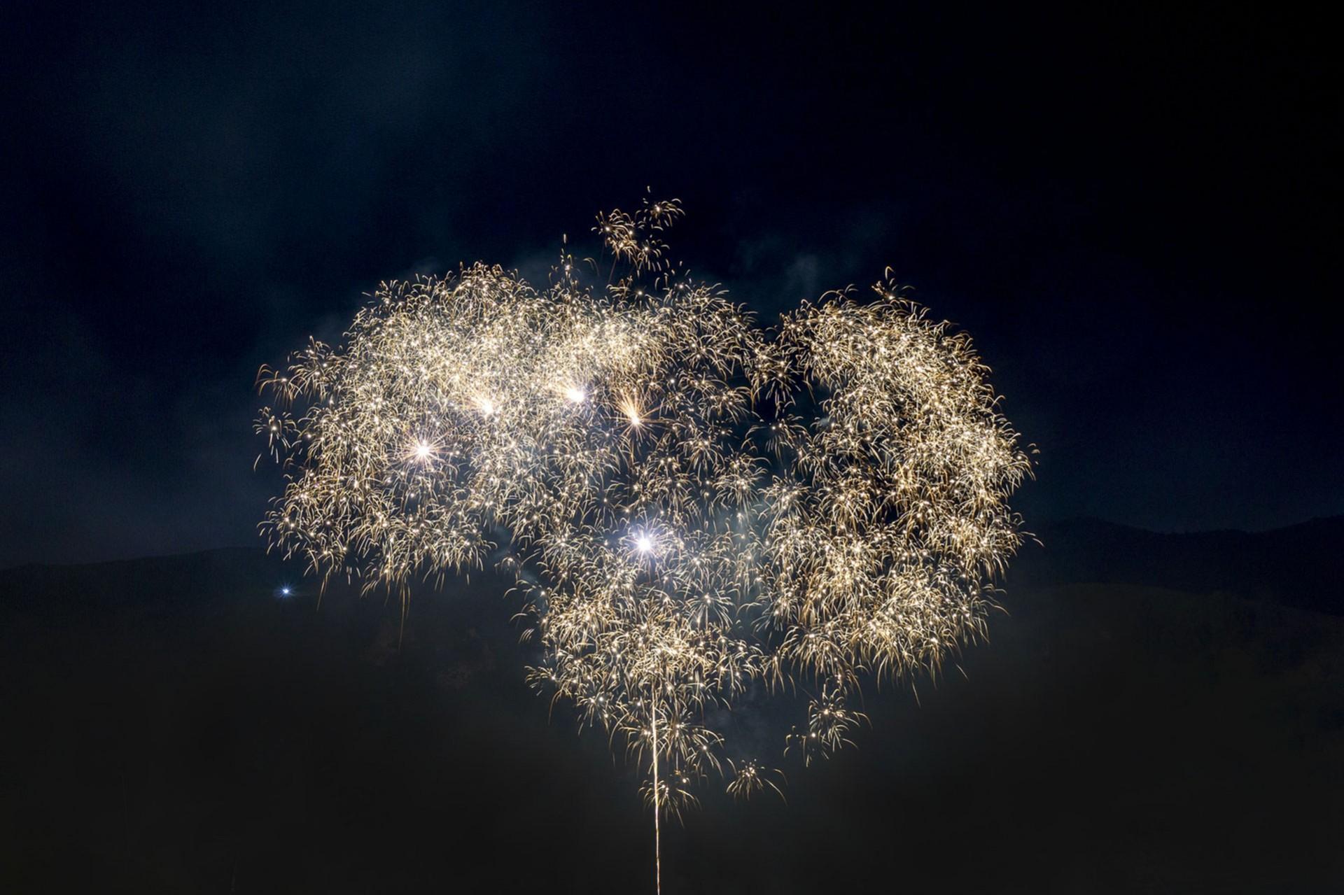Chamrousse stay new year fireworks mountain ski resort grenoble isere french alps france