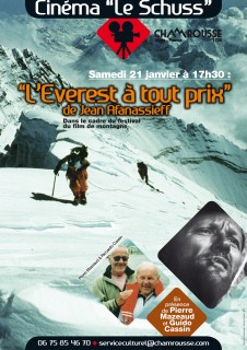 Affiche festival ciné montagne : soirée spéciale Pierre Mazeaud