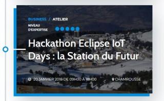 Hackathon Eclipse IoT Days : la Station du Futur