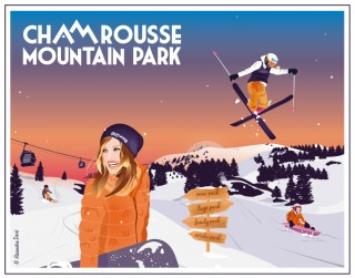 Affiche Chamrousse hiver 2018-19