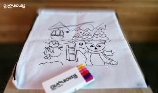 Sac à colorier + feutres enfant Chamrousse