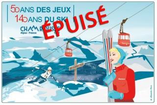 Planche à découper 50 ans JO Grenoble - Chamrousse