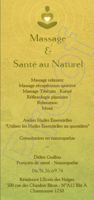 Massage et santé au naturel