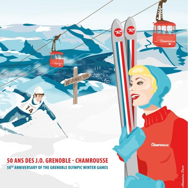 Illustration 50 ans des J.O. Grenoble - Chamrousse