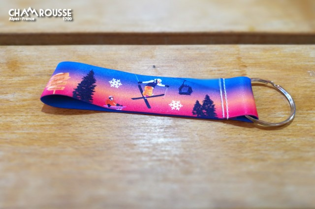Chamrousse gift shop souvenir elastic lanyard mountain resort isere french alps france