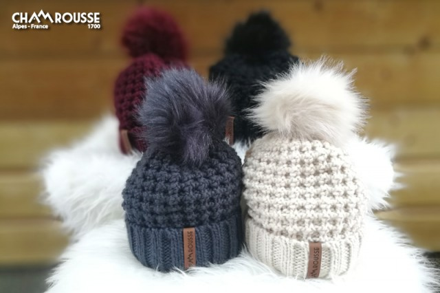 Chamrousse gift shop woolly hat mountain ski resort isere french alps france
