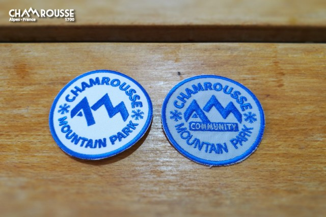 Chamrousse gift shop souvenir badge mountain resort isere french alps france