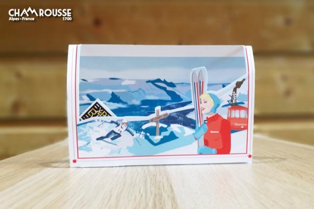 Chamrousse boutique souvenir carte pop-up 50 ans jeux olympiques grenoble chamrousse station montagne ski isère alpes france