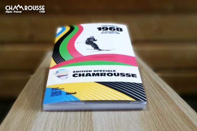 Chamrousse boutique souvenir livre jeux olympiques Grenoble 50 ans JO édition Chamrousse Glénat station montagne ski isère alpes france