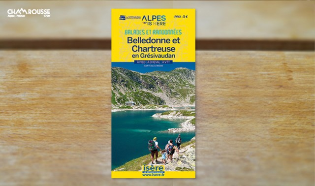 Belledonne and Chamrousse paths map