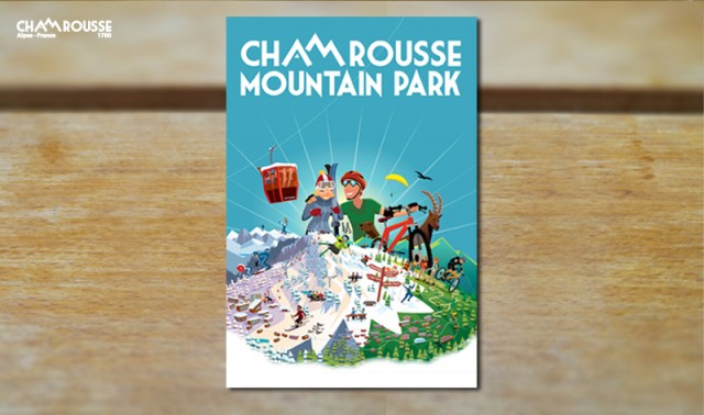 Chamrousse winter summer poster Charlie Adam bungalows graphics mountain ski resort isere french alps france