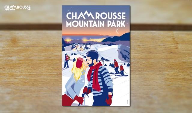 Chamrousse objet déco souvenir cadeau boutique affiche amour sports hiver station ski isère alpes france