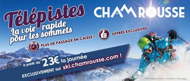 Chamrousse télépistes station hiver ski isere alpes France