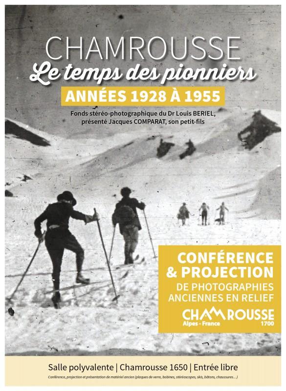 Affiche Chamrousse le temps des pionniers in Chamrousse