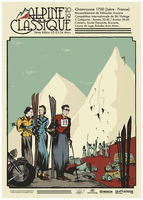 Affiche Alpine Classique