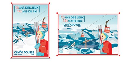 Chamrousse objet boutique affiche 50 ans Jeux Olympiques Chamrousse station ski isere alpes france