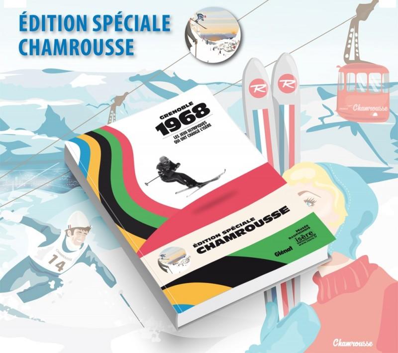 Chamrousse objet boutique livre Glénat 50 ans Jeux Olympiques Chamrousse station ski isere alpes france