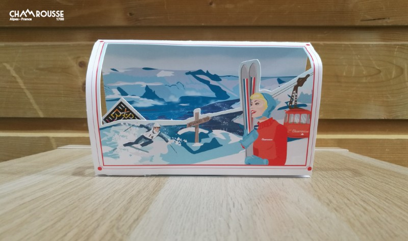 Pop-up card 50th anniversary of Grenoble Olympics