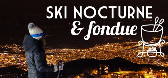 Night skiing evening + fondue