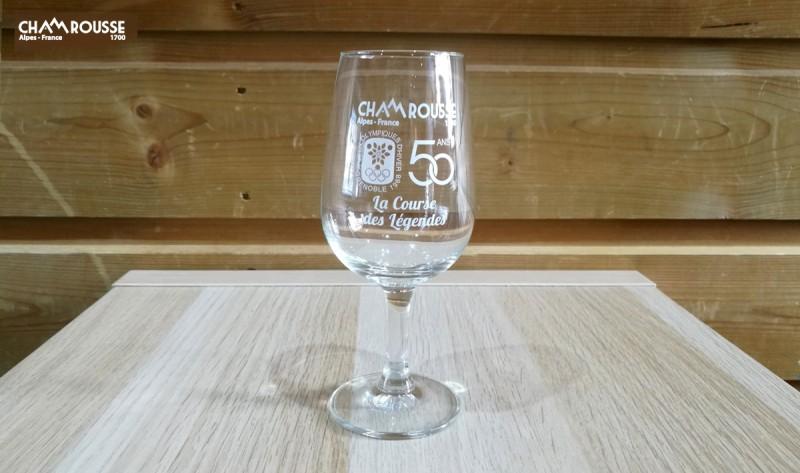 Glass 50th anniversary of Grenoble Chamrousse Olympics